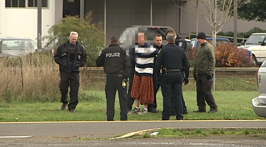 Police took a man with an axe into custody and took him to the hospital after a report of an armed subject in South Eugene. (SBG)