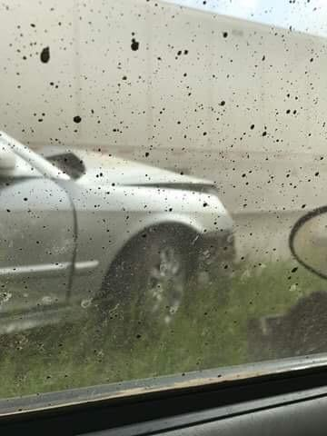 Multi-Vehicle crash on I-72 near New Berlin caused by dust storm (Courtesy Shawna Antle-Stear)