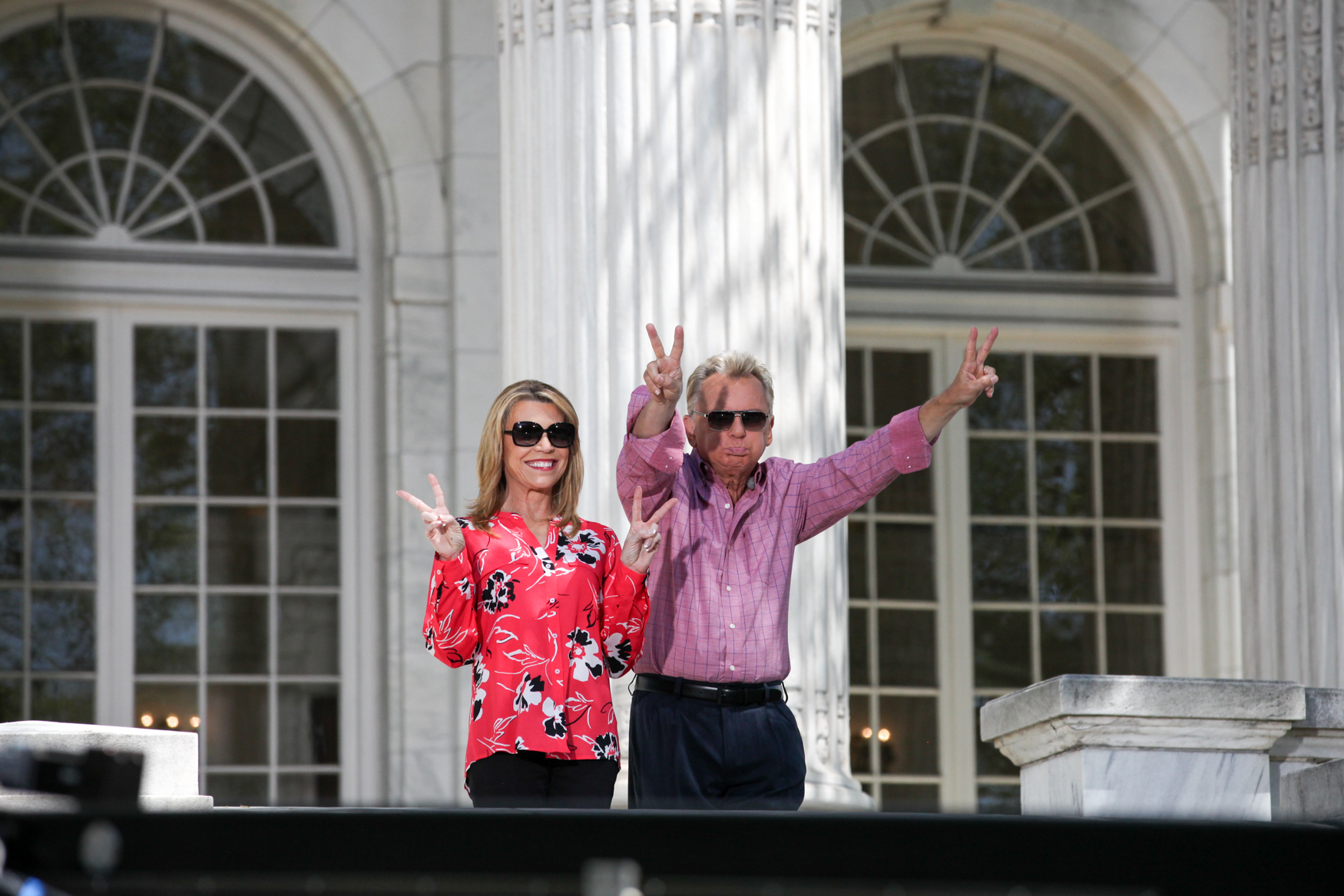 Vanna and Pat show off their Richard Nixon impressions.{ }(Photo by DC Refined)
