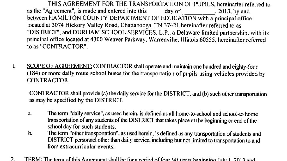 Newschannel 9 Obtains Contract Between Durham School Services