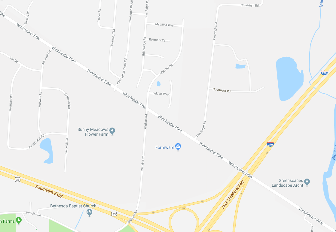 <p>The reported accident was near the intersection of Watkins Road and Winchester pike in Southeast Columbus. (Courtesy: Google Maps)</p>