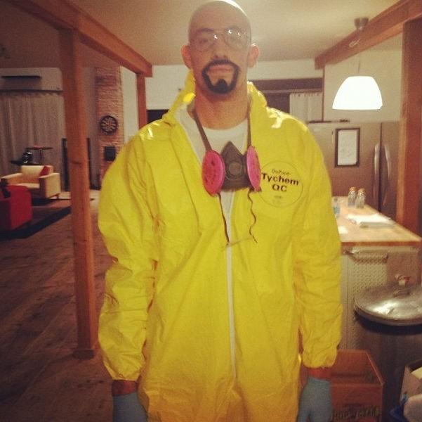 Nick Collison as Breaking Bad's Walter White.