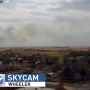 Wildfire burns in Wheeler County