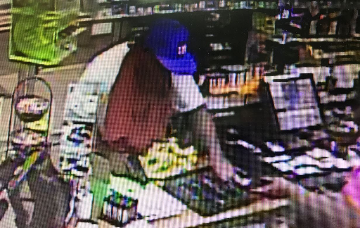 Lynchburg police say they are searching for a suspect who robbed a Stop In Food store Saturday night (Photo: LPD)