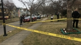 One shot on Steko Avenue Friday afternoon
