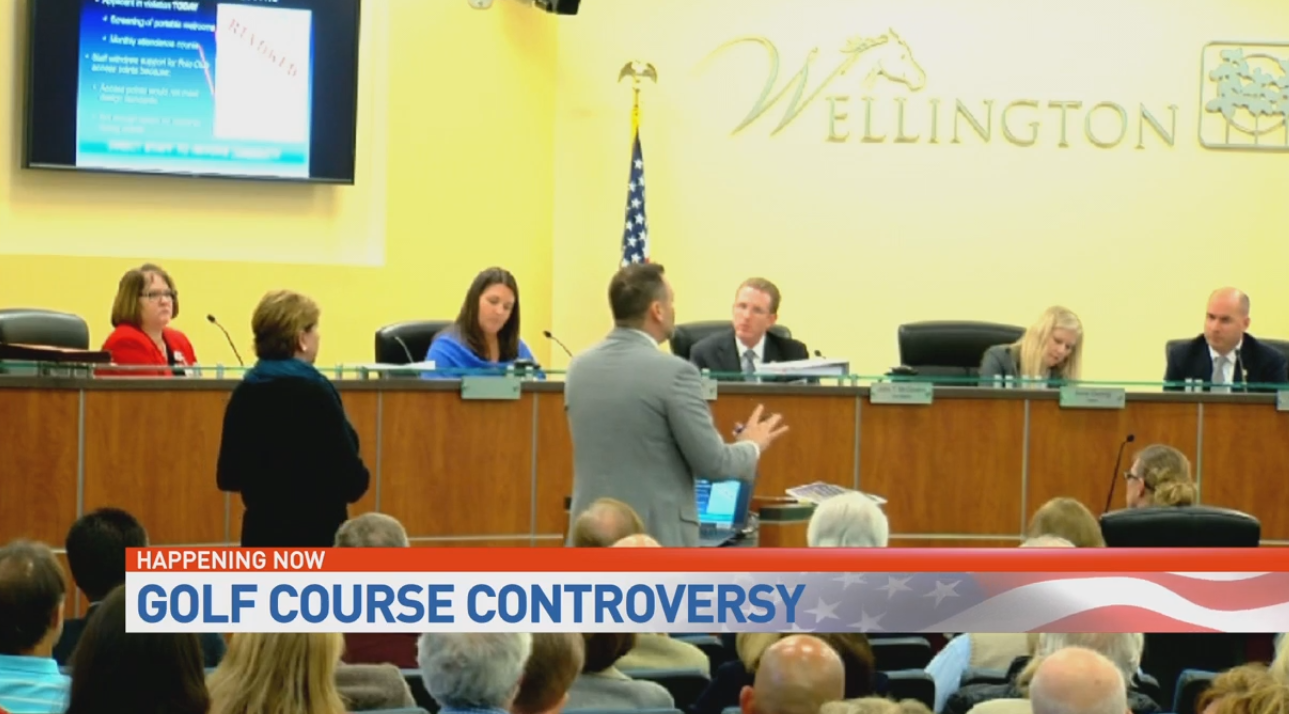 Proposal for golf course expansion brings out high numbers of concerned residents. (WPEC)