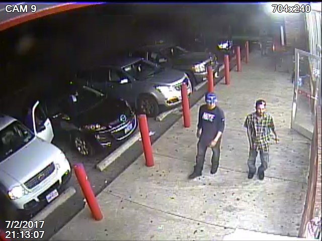 Austin Police are looking for the public's help identifying two suspects in an armed robbery that happened in southeast Austin on July 2. (Photos: Austin Police Department)