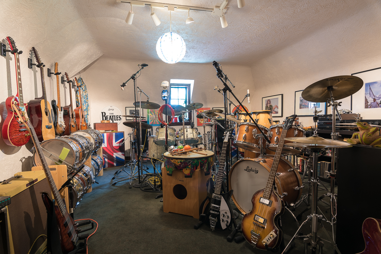 On the third floor of the house, a massive collection of instruments and musical accessories can be found. / Image: Phil Armstrong, Cincinnati Refined // Published: 7.16.18