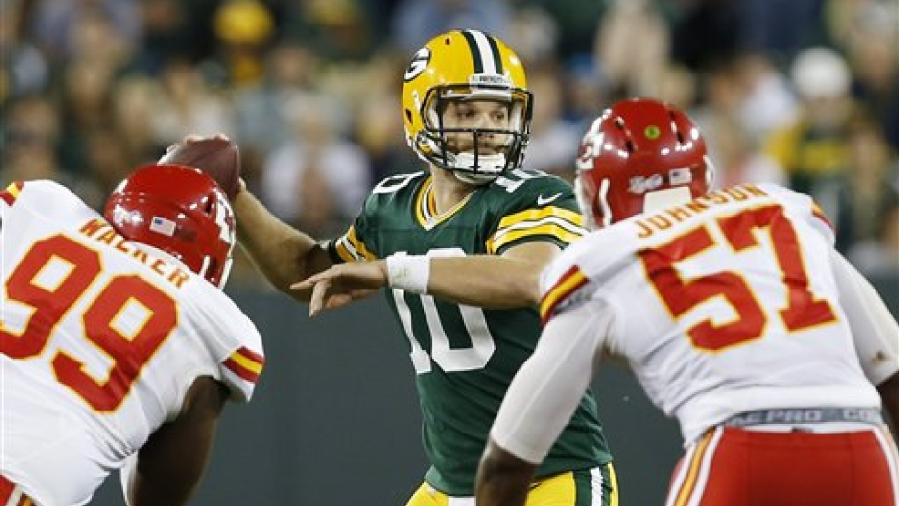 Green Bay Packers' Matt Flynn during the second half of an NFL football preseason game against the Kansas City Chiefs Thursday, Aug. 28, 2014, in Green Bay. (AP Photo/Mike Roemer)