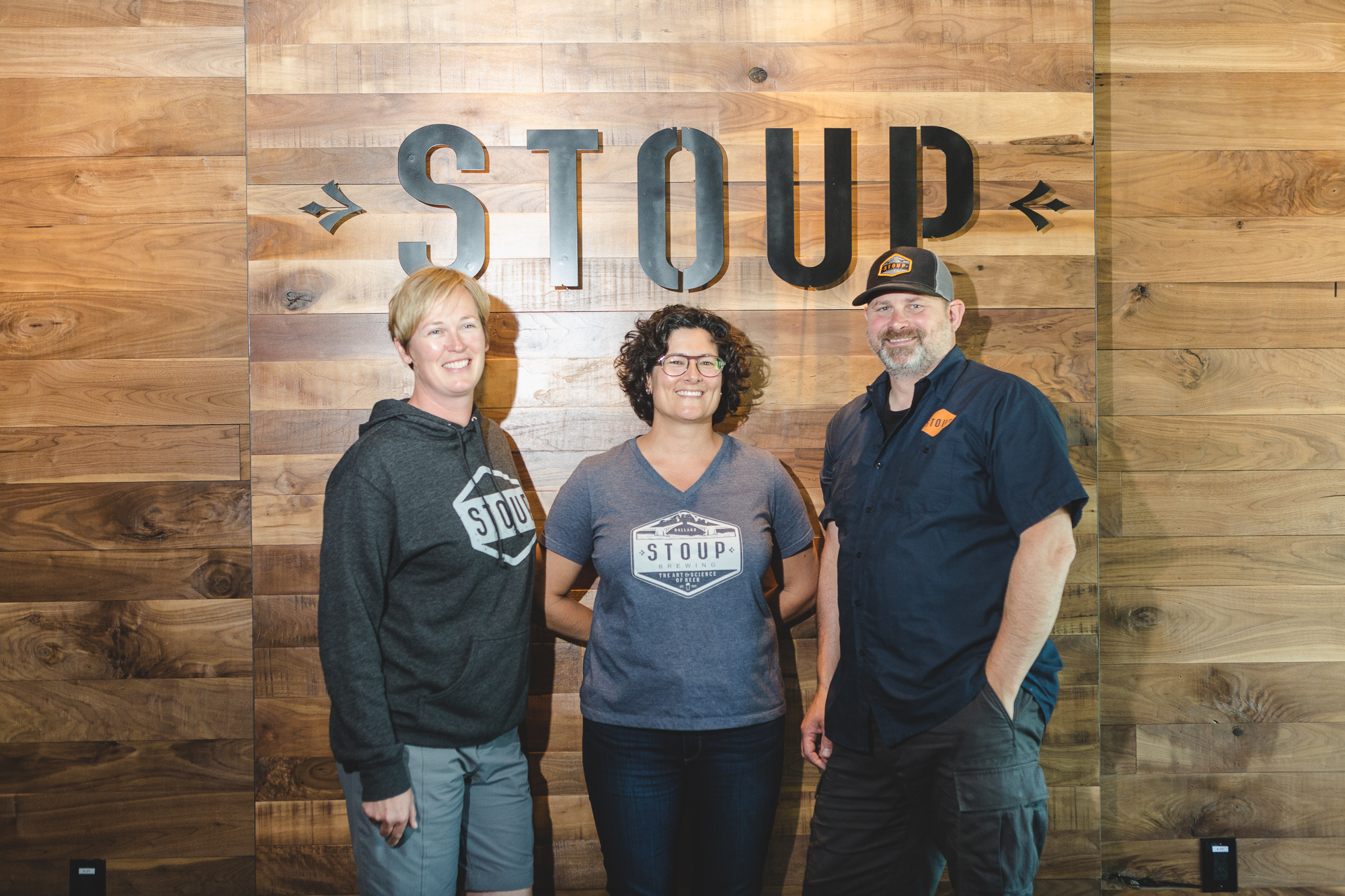 Robyn, Lara & Brad (Image courtesy of Stoup Brewing)