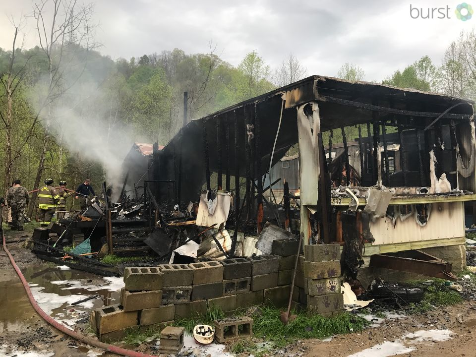 Multiple crews responded to a fire that occurred Wednesday morning in Boone County and resulted in the total loss of one mobile home. (WCHS/WVAH)