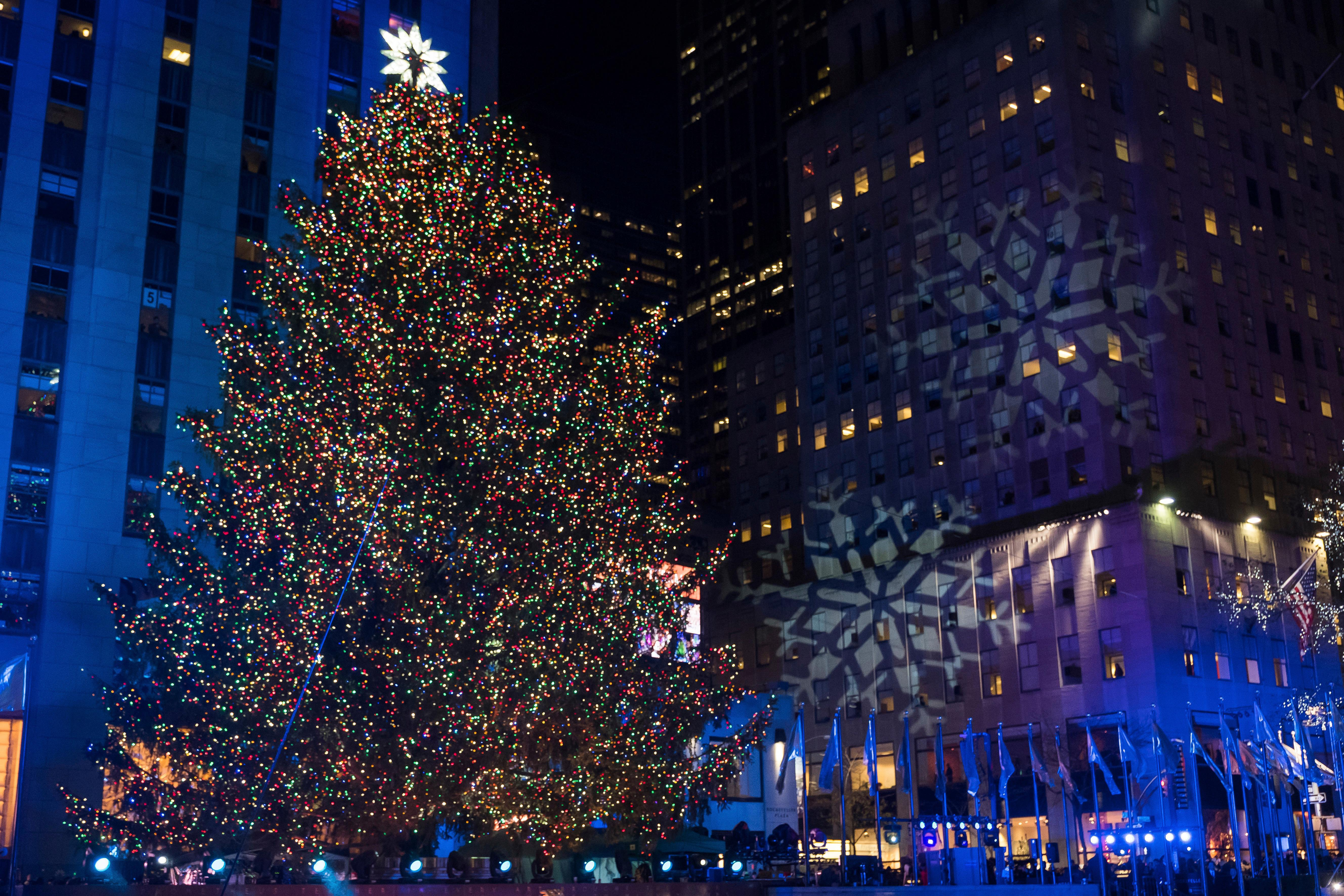 The Rockefeller Center Christmas Tree Is Lit During The 85Th