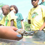Camp Rise Above kids get up close and personal with sea creatures