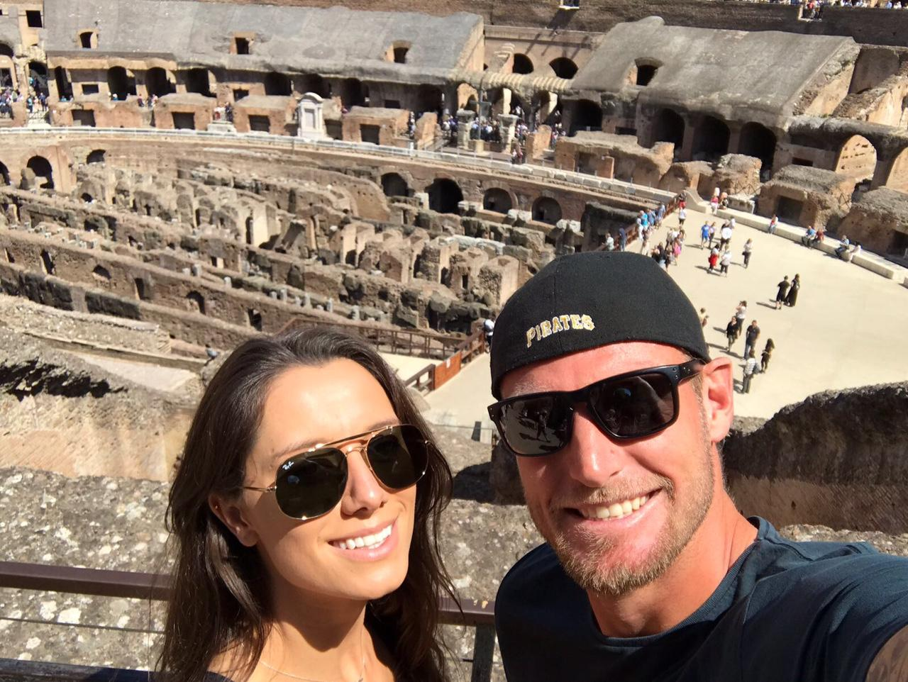 Sam and Britt exploring Rome
