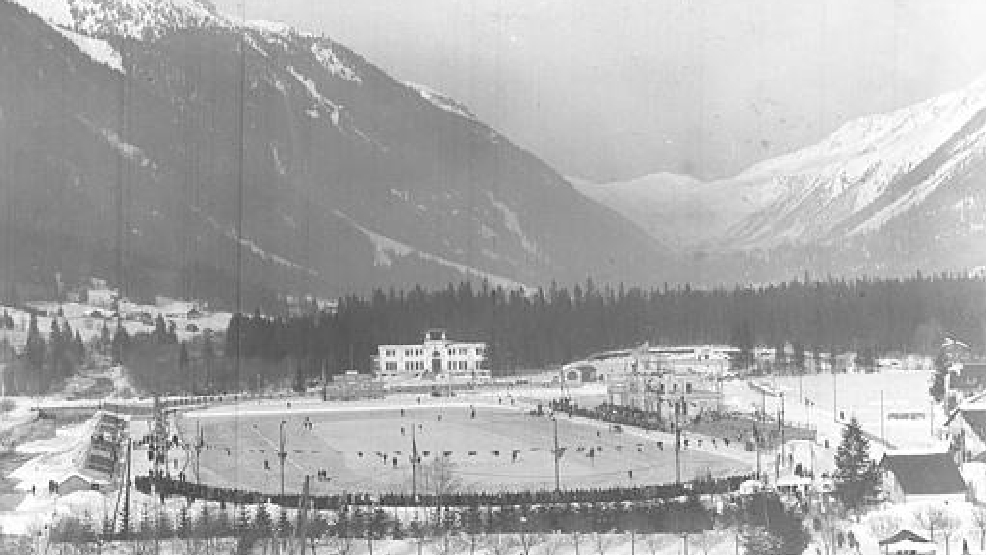 Undated view of the Olympic Stadium at Chamonix, France, where the Winter Olympics were held in 1924. (AP Photo)