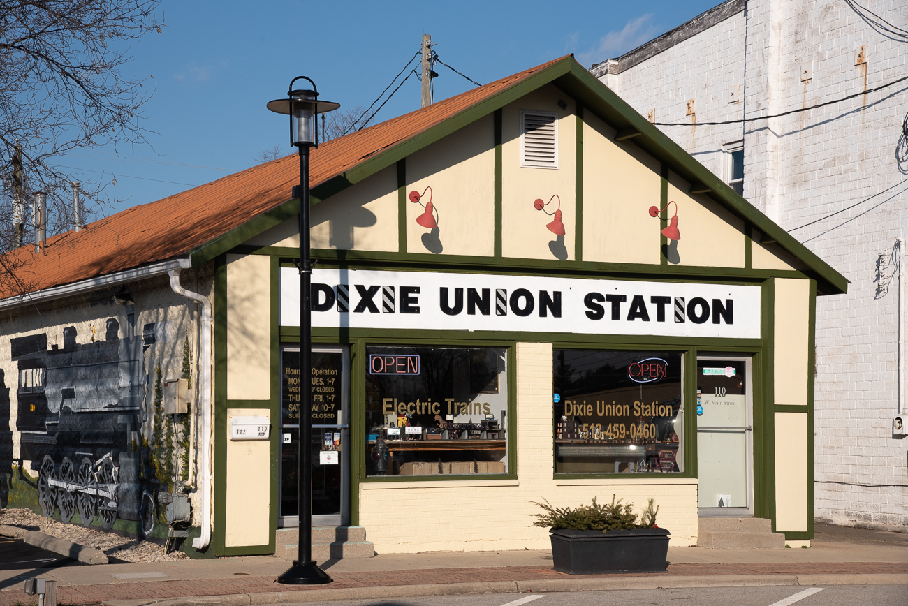 Dixie Union Station is among the last brick and mortar model train stores in the region. Located in Mason along Main Street, the store has been open and chugging along for over 20 years. The shop is one of the largest purveyors of O-gauge model trains in the United States, but also sells HO, G, S, and STD-gauge model products. ADDRESS: 110 W. Main Street (45040) / Image: Phil Armstrong, Cincinnati Refined // Published: 2.27.20