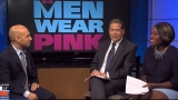 Real men wearing pink to support women's fight against breast cancer