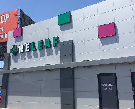 Las Vegas ReLeaf Medical Marijuana Dispensary is located at 2244 Paradise Road, just off the Las Vegas Strip. (Jeff Gillan | News3LV)