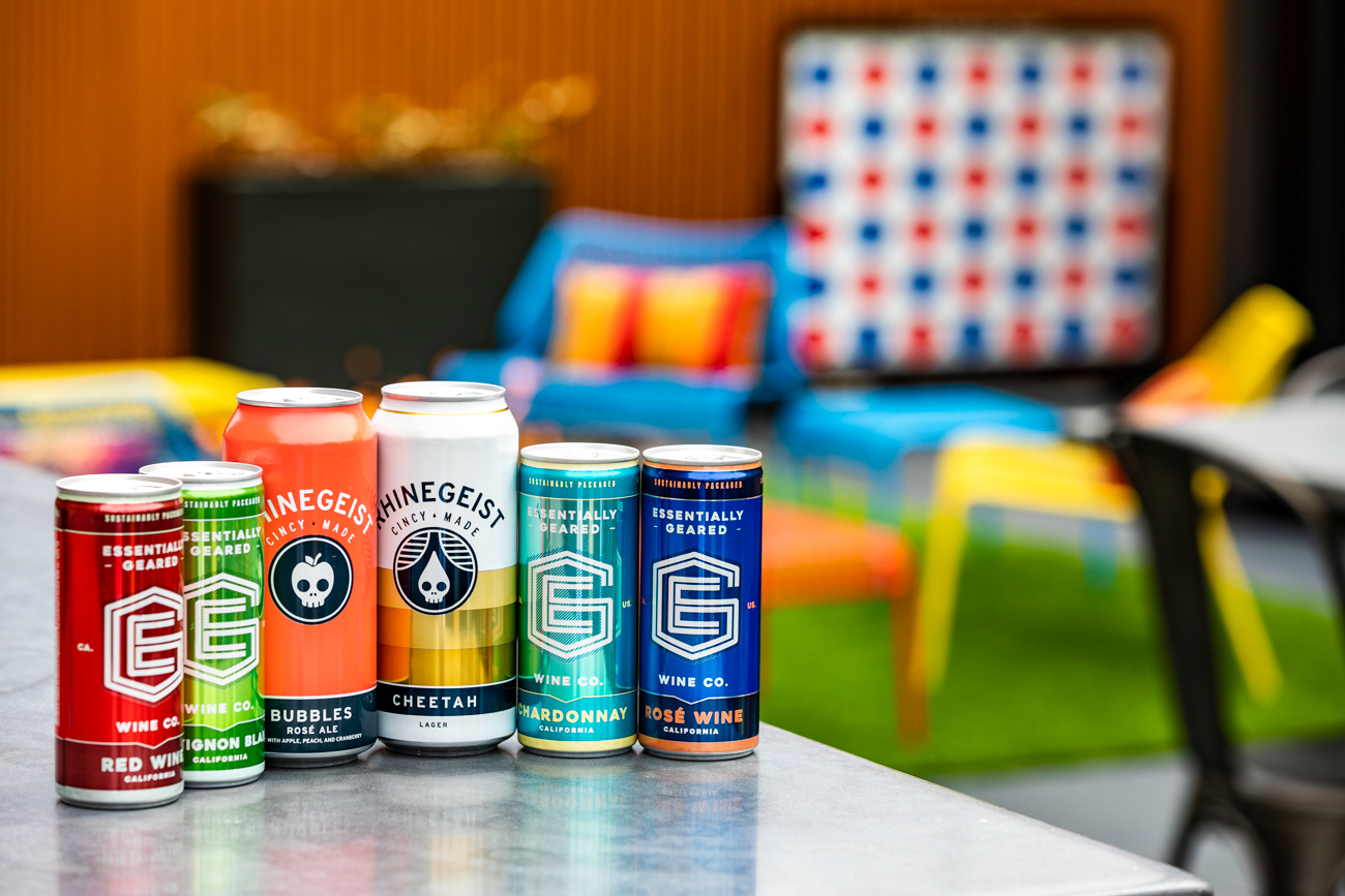 To start off the patio season right, Pins is opening its beautiful rooftop escape. There, you'll find an open view of the rooftops of OTR, a bar that serves 16-ounce beer pounders (including local brands like Rhinegeist, as well as popular national brands), and canned wine. You're also welcome to bring their drinks from the downstairs bar to the rooftop. / Image: Amy Elisabeth Spasoff // Published: 4.18.19