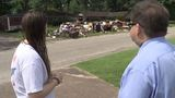 Trash heap left behind in Beaumont west end neighborhood affecting neighbors