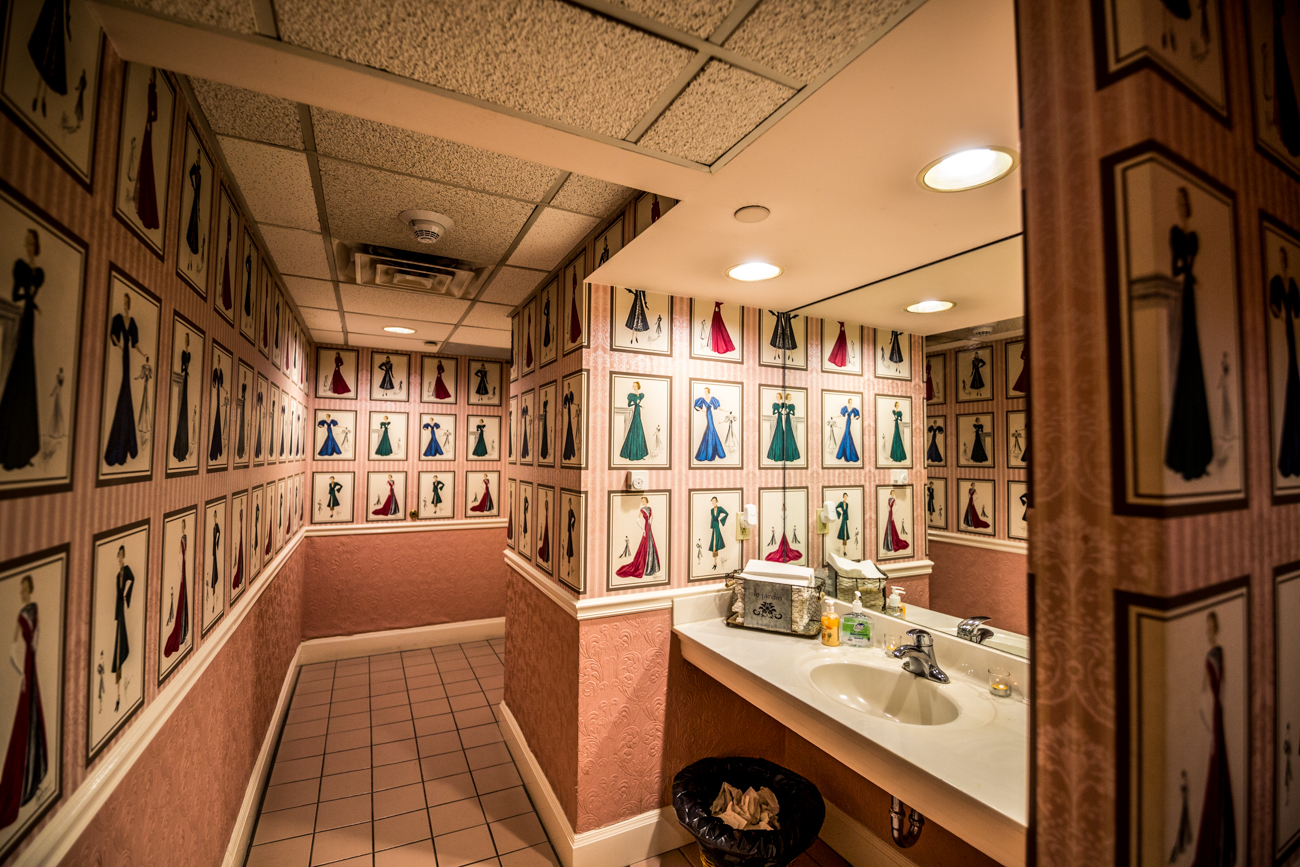 PLACE #6: The Phoenix / ADDRESS: 812 Race Street (45202) / The Phoenix is a historical landmark and event venue Downtown that dates back to 1893. Its bathroom pays homage to its past with images of vintage, well-dressed ladies decorating the walls. When you're finished gettin' good content for the 'Gram, check out the President's Room bar and restaurant on the first floor. / Image: Catherine Viox // Published: 8.8.19