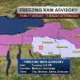 Freezing rain & winter weather ADVISORIES extended for Tuesday