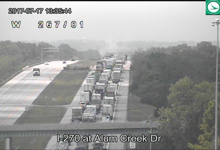 According to the Franklin County Sheriff, the truck crashed into the Lockbourne Rd Overpass on I-270, between Alum Creek and US-23. (WSYX/WTTE)