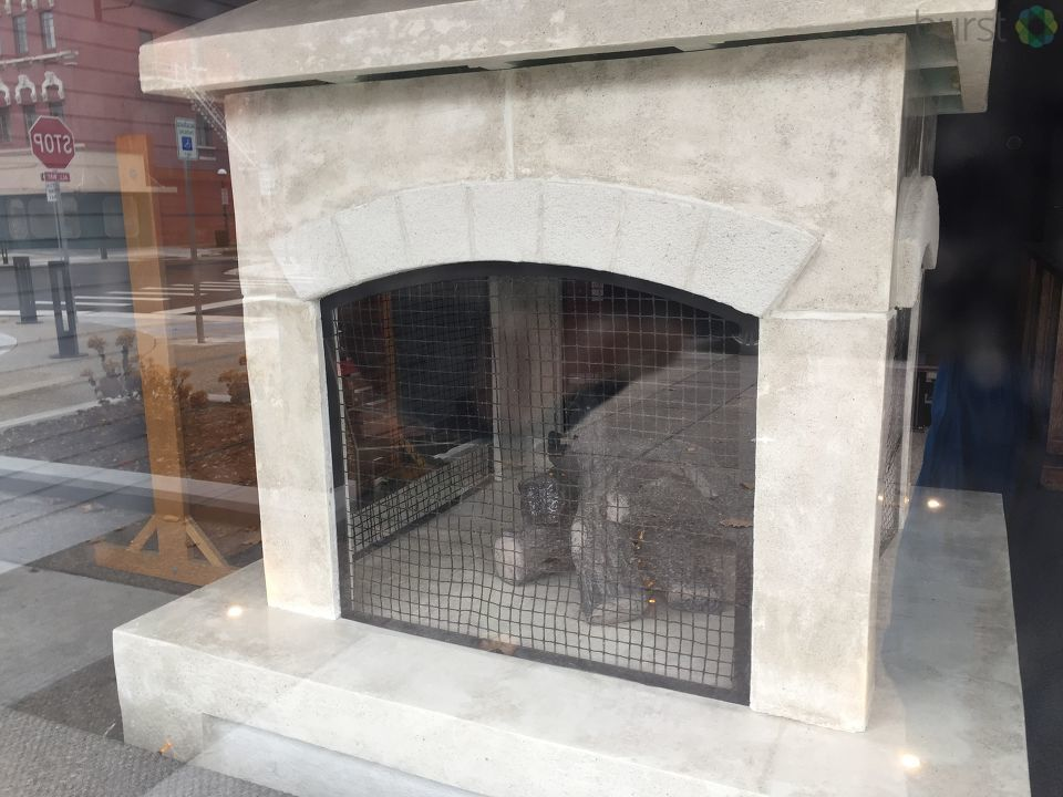 With the new $7 million project almost complete fireplaces are now being added around Midland's downtown area. Gaming tables and specialty benches, or 'rockers' as they are called, will also be added to the project.{ }(Photo: WEYI/WSMH)