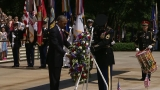 Obama marks Memorial Day at Arlington National Cemetery